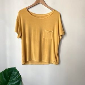 American Eagle | Soft & Sexy Pocket Tee Yellow M